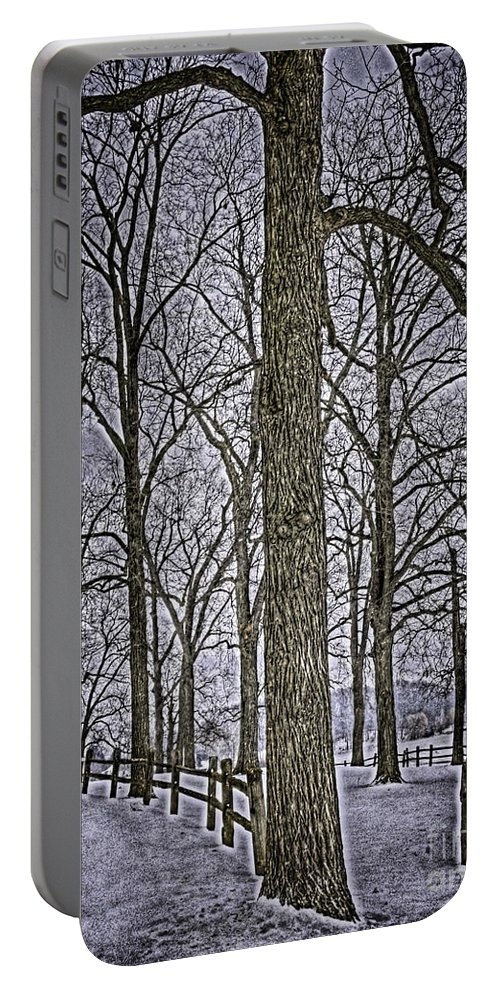 Country Portable Battery Charger featuring the photograph Thompson Lake Hdr by September Stone
