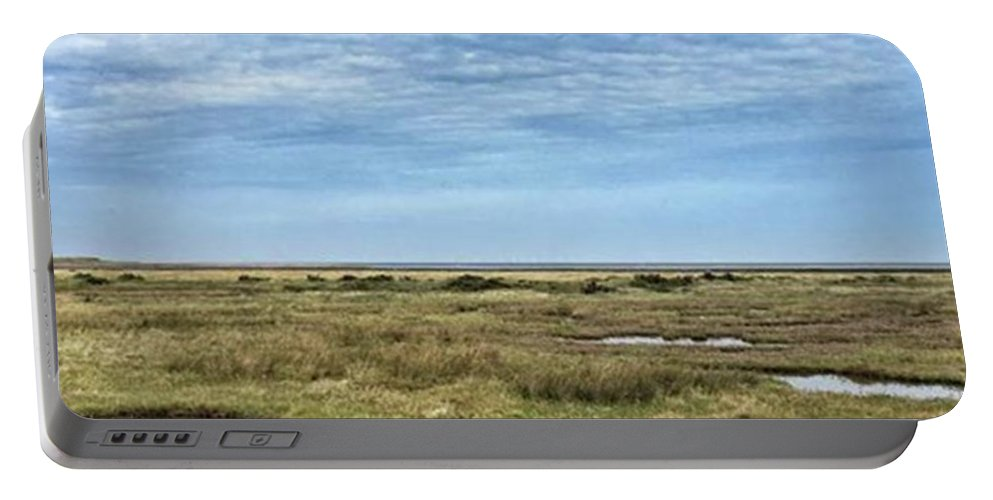 Portable Battery Charger featuring the photograph Thornham Marshes, Norfolk by John Edwards