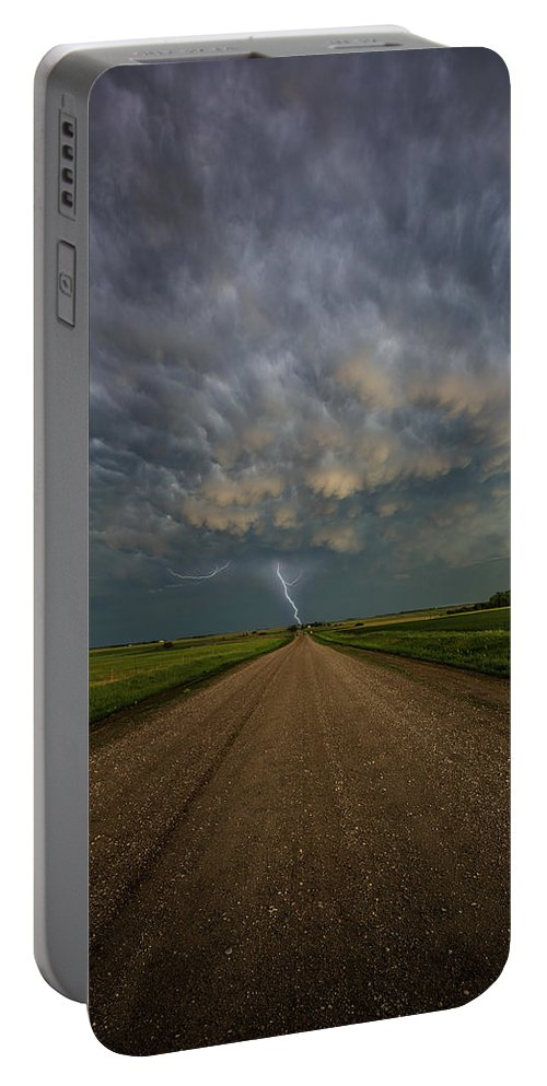 Sky Portable Battery Charger featuring the photograph Thor's Chariot by Aaron J Groen