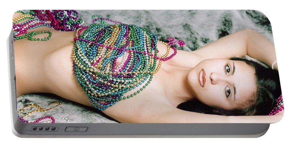 Female Artistic Nude Portable Battery Charger featuring the photograph Those Eyes by Tom Hufford