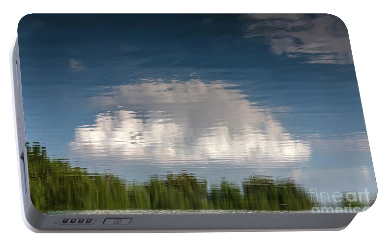 Abstract Portable Battery Charger featuring the photograph Thought by Larry Braun
