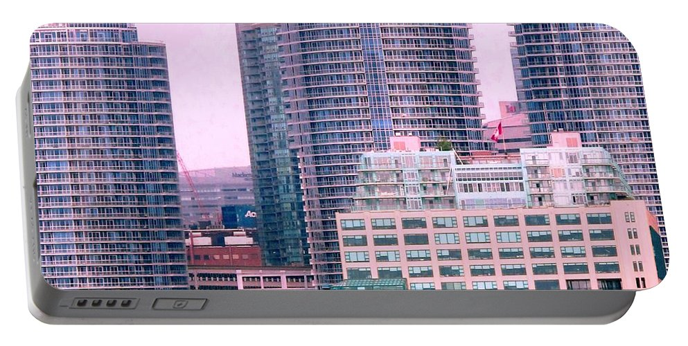 Toronto Portable Battery Charger featuring the photograph Thousands Of Windows On The Harbor by Ian MacDonald
