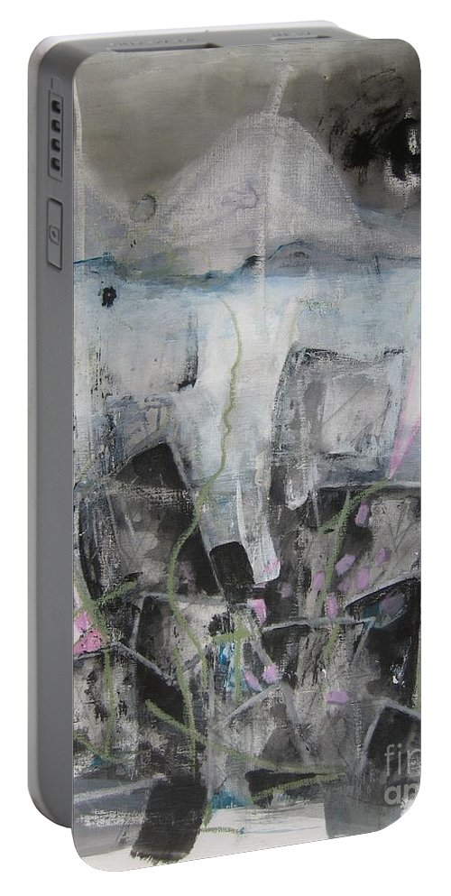 Cemetery Portable Battery Charger featuring the painting Three Arms by Seon-Jeong Kim