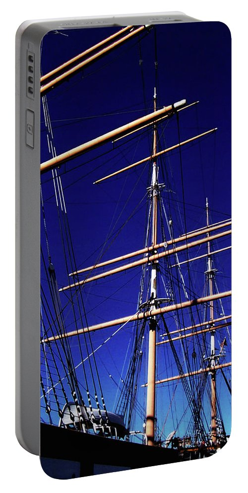 Ship Portable Battery Charger featuring the photograph Three Mast Sailing Rig by Glenn Aker