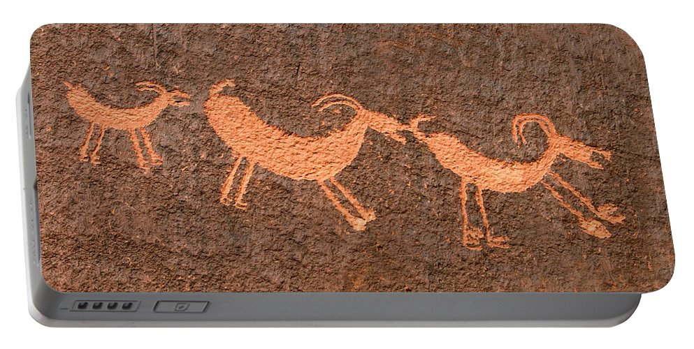 Bighorn Sheep Portable Battery Charger featuring the photograph Three Playful Sheep by David Lee Thompson