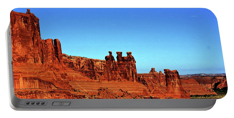 Mountains Portable Battery Charger featuring the photograph Three Sisters by Bob Welch