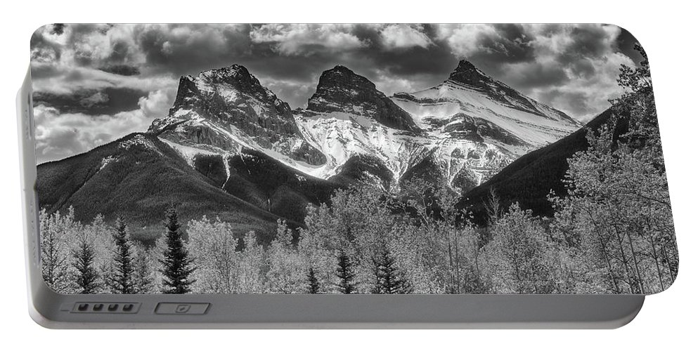 Landscape Portable Battery Charger featuring the photograph Three Sisters by Russell Pugh