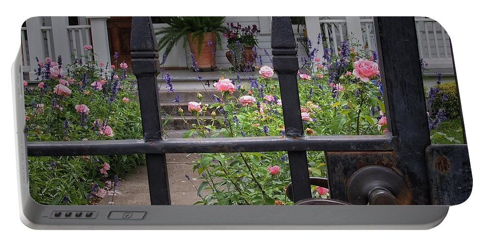 Fence Portable Battery Charger featuring the photograph Through The Fence by Buck Buchanan