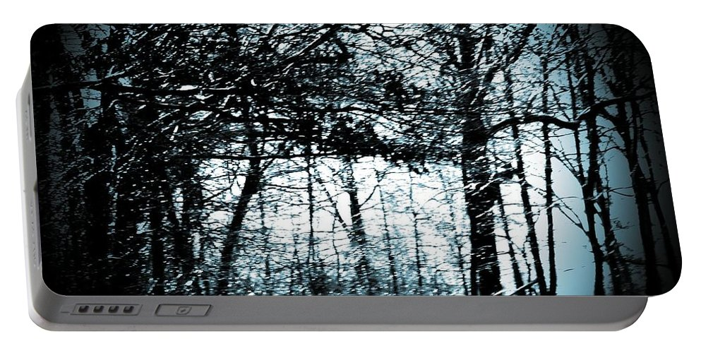 Trees Portable Battery Charger featuring the photograph Through The Lens-blue by Charleen Treasures