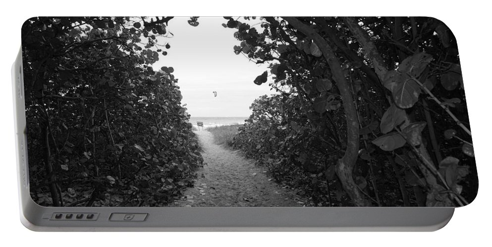 Black And White Portable Battery Charger featuring the photograph Through The Looking Glass by Rob Hans