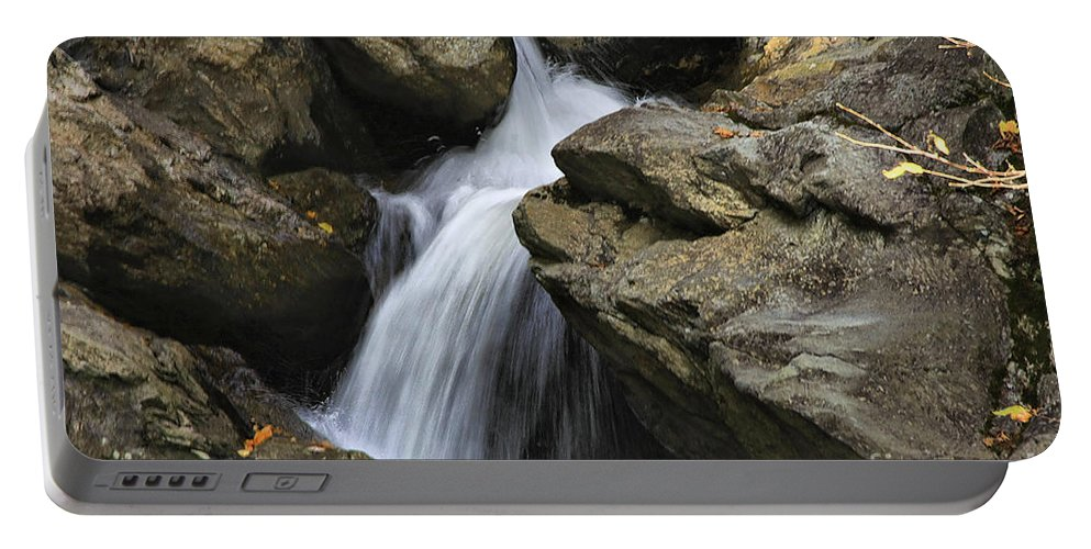 Water Portable Battery Charger featuring the photograph Through The Rocks by Deborah Benoit