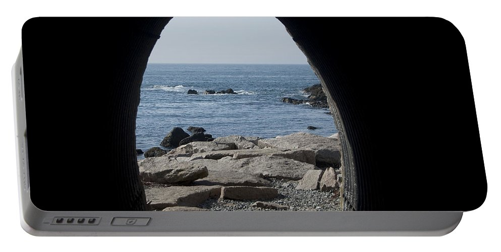 Tunnel Portable Battery Charger featuring the photograph Through The Tunnel by Steven Natanson