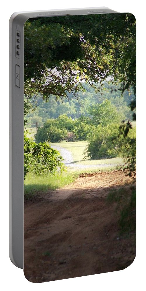 Woods Portable Battery Charger featuring the photograph Through The Woods by Gale Cochran-Smith
