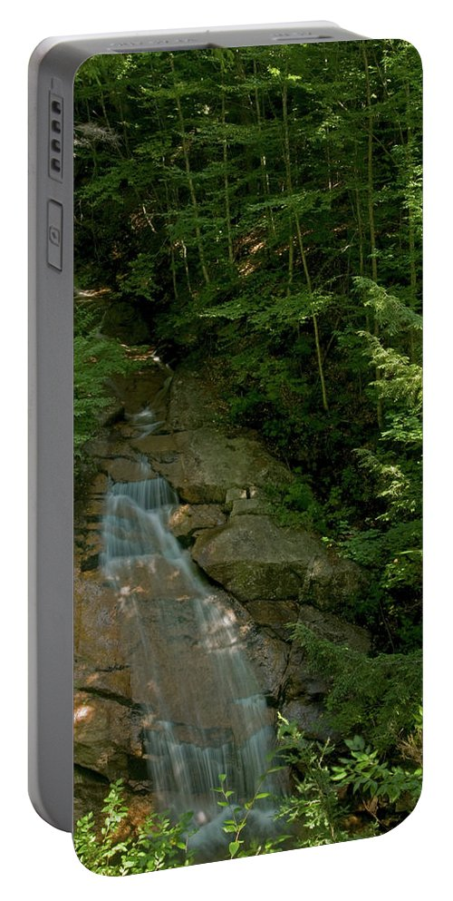 flume Gorge Portable Battery Charger featuring the photograph Through The Woods by Paul Mangold
