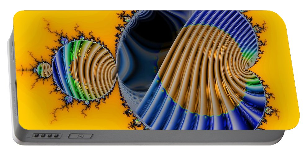 Julia Fractal Portable Battery Charger featuring the digital art Thru a Julia Lens by Ron Bissett