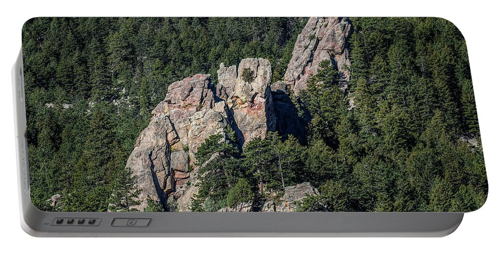 Rock Portable Battery Charger featuring the photograph Thumbs Up by Michael Putthoff