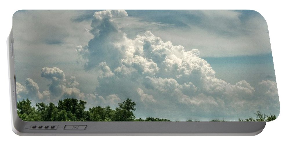 Thunder Portable Battery Charger featuring the photograph Thunderheads Abound by Eric Newcom