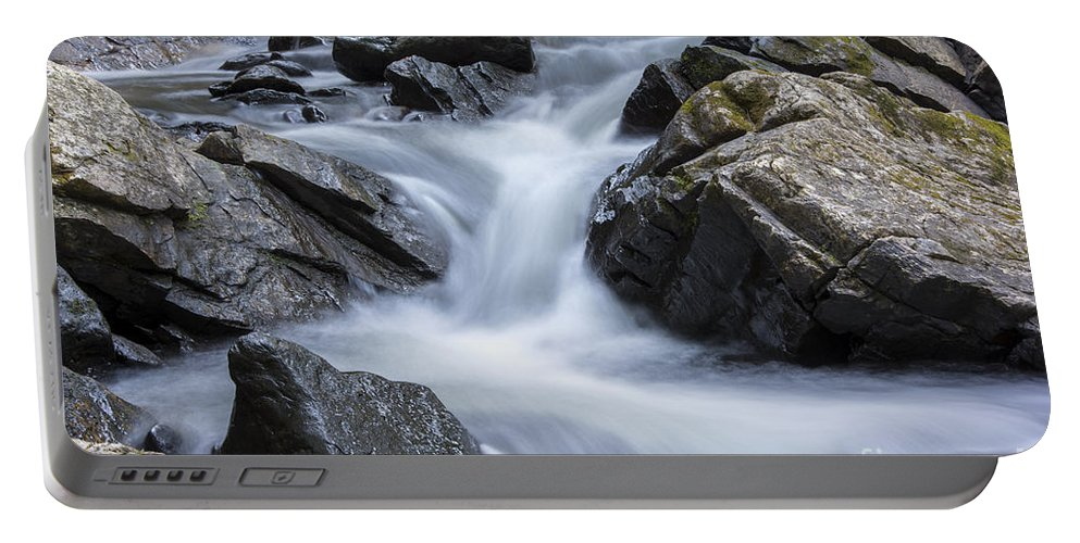 Brook Portable Battery Charger featuring the photograph Thundering Brook by Darla Bruno