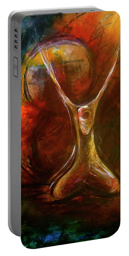 Spiritual Portable Battery Charger featuring the painting Thy Will Be Done by Kristye Addison Dudley