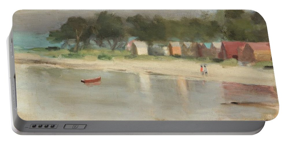 Clarice Beckett - Ti-tree At Evening (beaumaris) Portable Battery Charger featuring the painting Ti Tree At Evening by MotionAge Designs