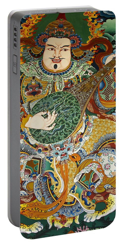 Asia Portable Battery Charger featuring the photograph Tibetan Buddhist Mural by Michele Burgess