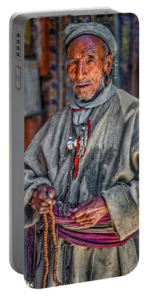 Himalaya Portable Battery Charger featuring the photograph Tibetan Refugee by Steve Harrington