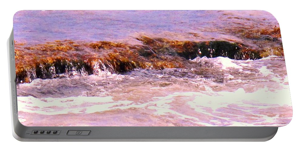 Tide Portable Battery Charger featuring the photograph Tidal Pool by Ian MacDonald