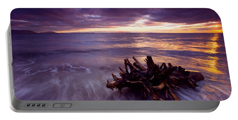 Sunset Portable Battery Charger featuring the photograph Tide Driven by Mike Dawson