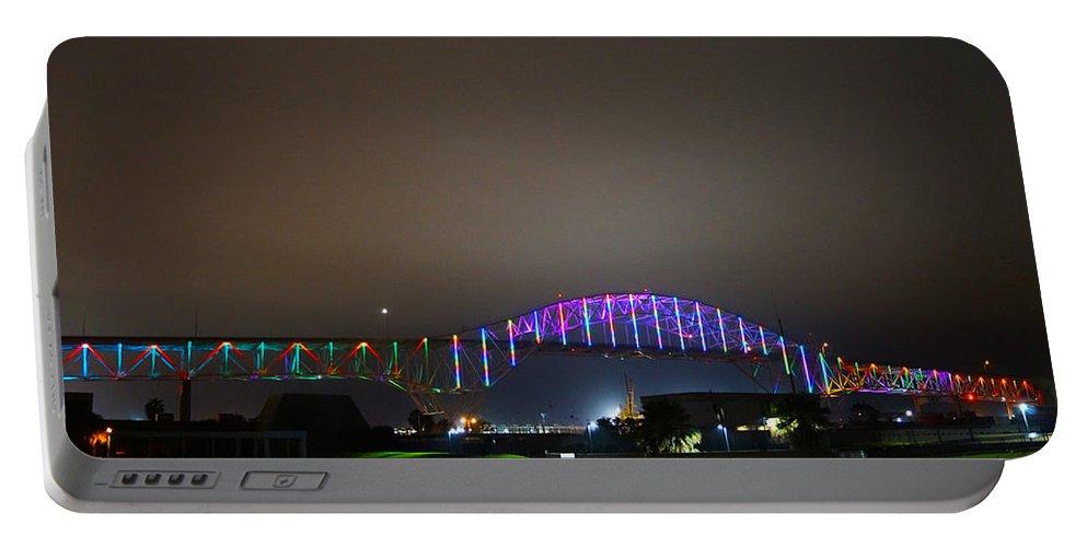 Bridge Portable Battery Charger featuring the photograph Tie Dye Bridge by Craig David Morrison