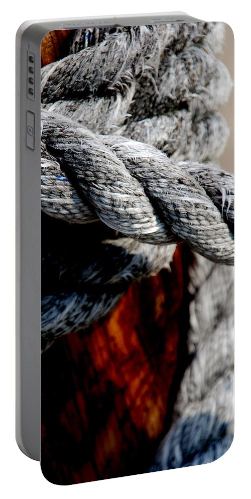 Ropes Portable Battery Charger featuring the photograph Tied Together by Susanne Van Hulst