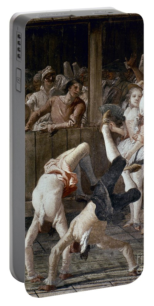 18th Century Portable Battery Charger featuring the photograph Tiepolo: Acrobats, 18th C by Granger