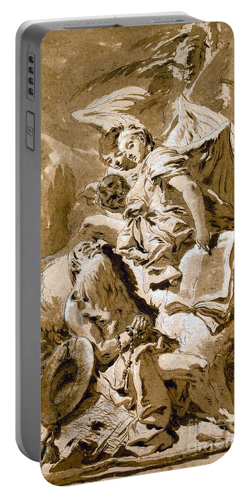 1730s Portable Battery Charger featuring the painting Tiepolo: Saint Jerome by Granger