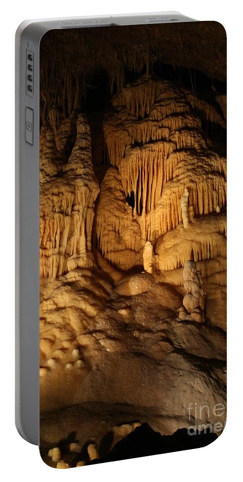 Natural Portable Battery Charger featuring the photograph Tiers Of Formation - Cave by Lynn Michelle