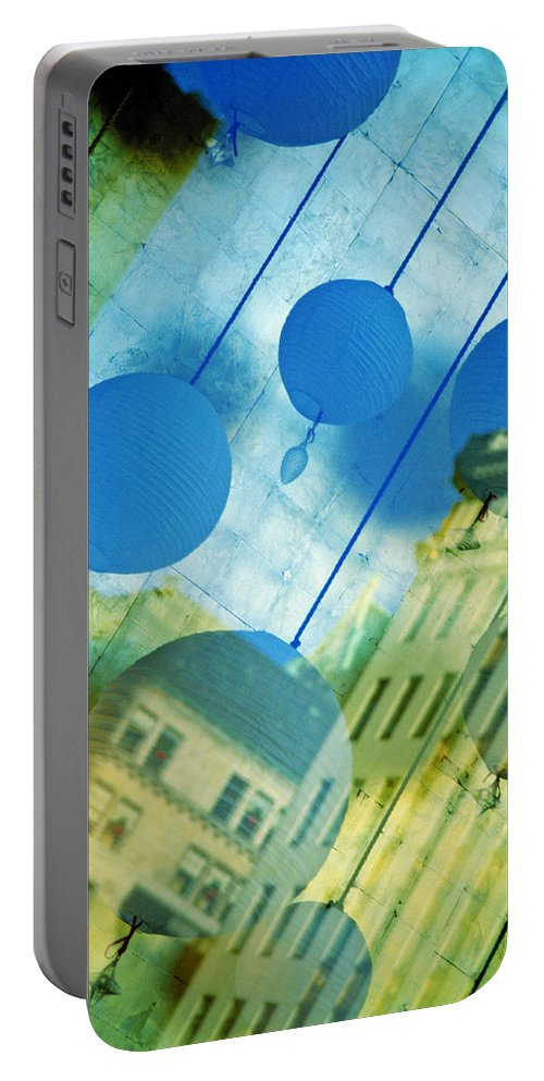 New York Portable Battery Charger featuring the photograph Tiffanys by Skip Hunt