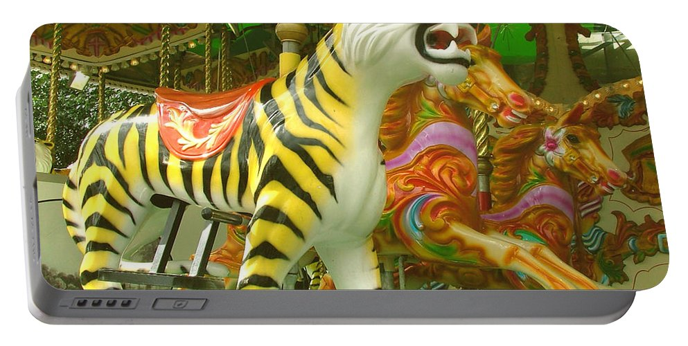 Tiger Portable Battery Charger featuring the photograph Tiger Carousel by Heather Lennox