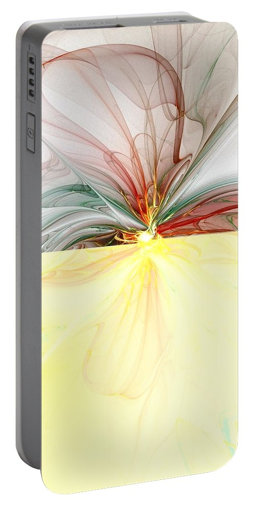 Digital Art Portable Battery Charger featuring the digital art Tiger Lily by Amanda Moore