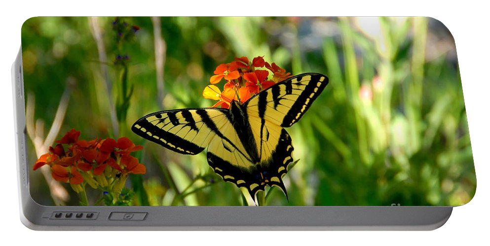 Tiger Tail Butterfly Portable Battery Charger featuring the photograph Tiger Tail Beauty by David Lee Thompson