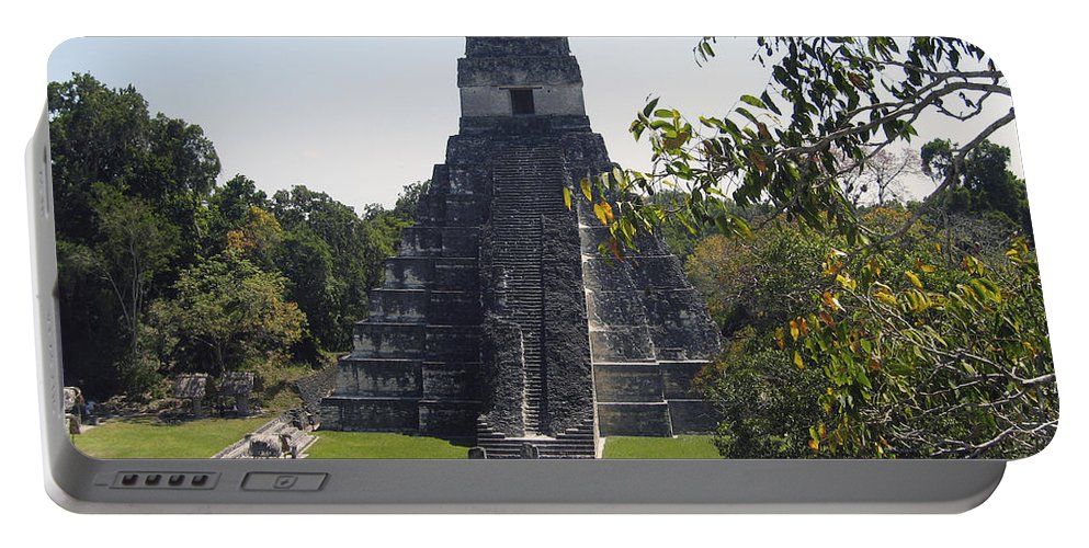 Tikal Portable Battery Charger featuring the photograph Tikal I by Kurt Van Wagner
