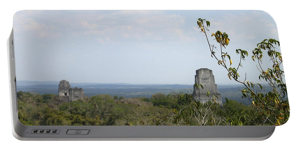 Tikal Portable Battery Charger featuring the photograph Tikal IIi by Kurt Van Wagner