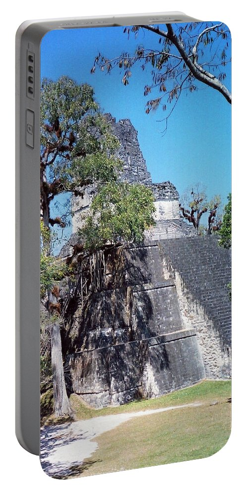 Tikal Portable Battery Charger featuring the photograph Tikal Iv by Kurt Van Wagner