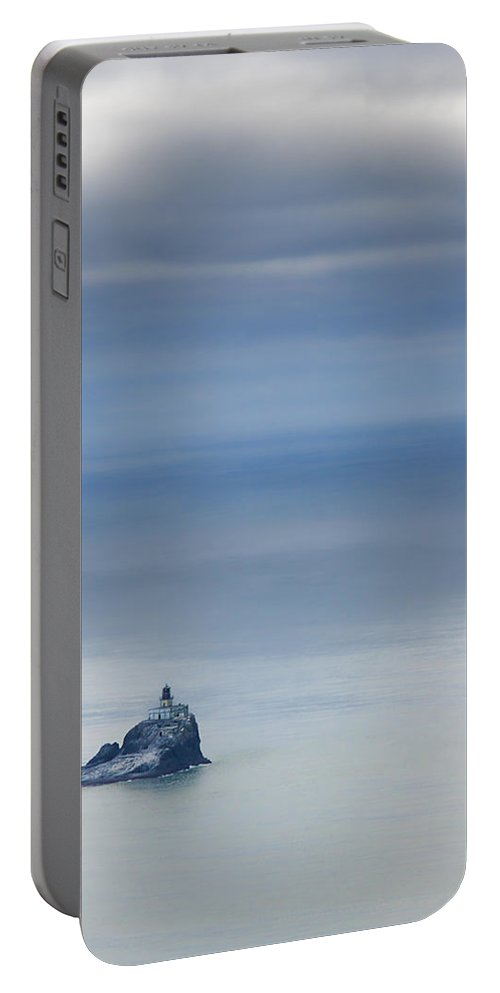 Oregon Coast Portable Battery Charger featuring the photograph Tillamook Rock Lighthouse by Don Schwartz