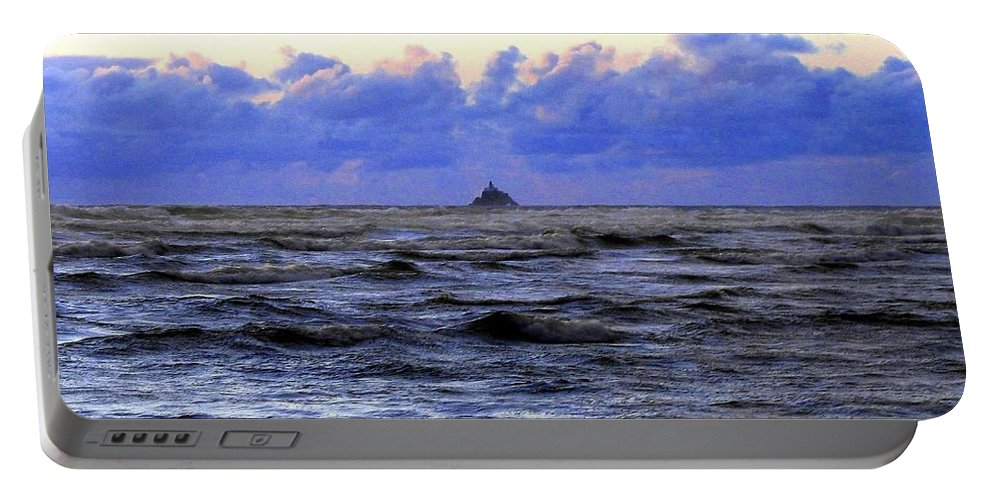 Lighthouse Portable Battery Charger featuring the photograph Tillamook Rock Lighthouse by Will Borden