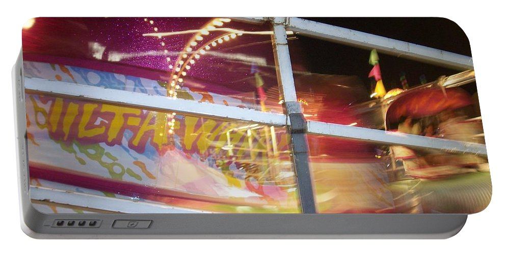 State Fair Portable Battery Charger featuring the photograph Tilt-a-whirl 1 by Anita Burgermeister