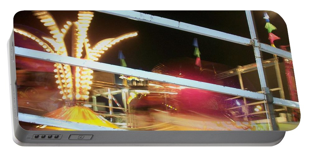 State Fair Portable Battery Charger featuring the photograph Tilt-a-whirl 2 by Anita Burgermeister