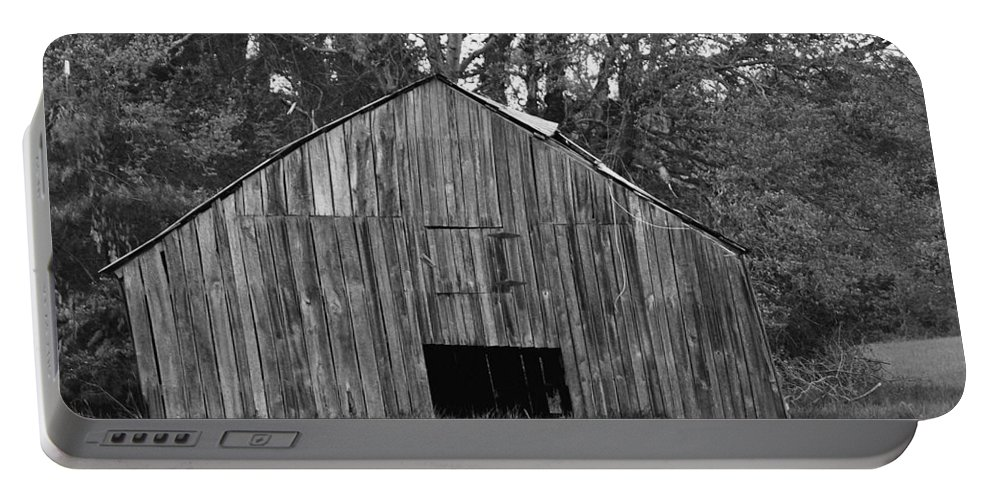 Barn Portable Battery Charger featuring the photograph Tilting by Eric Liller