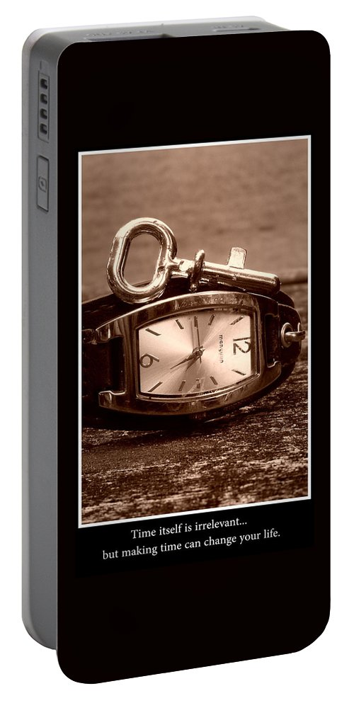Time Portable Battery Charger featuring the photograph Time by Gwendolyn Van Kogelenberg