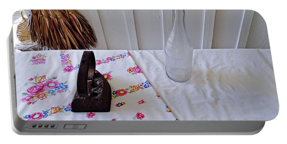 Iron Portable Battery Charger featuring the photograph Time To Iron by D Hackett