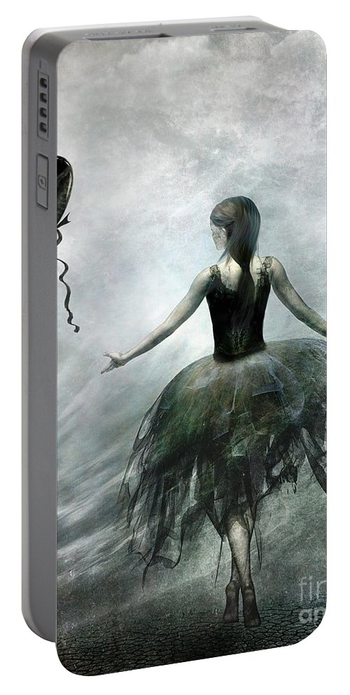 Ballet Portable Battery Charger featuring the painting Time To Let Go by Jacky Gerritsen