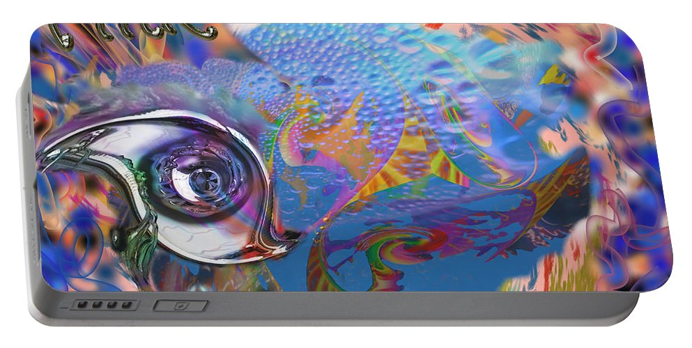 Pink Floyd Portable Battery Charger featuring the mixed media Time To Rock by Kevin Caudill