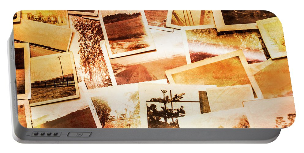 Photograph Portable Battery Charger featuring the photograph Time Worn Scenes And Places Background by Jorgo Photography - Wall Art Gallery